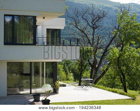 Exterior of modern luxury Villa