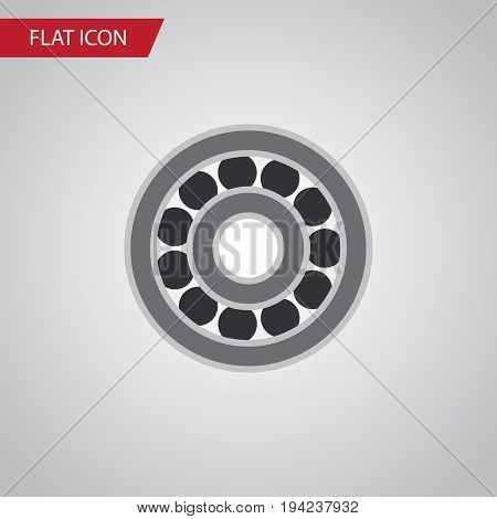 Isolated Ball Bearing Flat Icon. Brake Disk Vector Element Can Be Used For Ball, Bearing, Disk Design Concept.