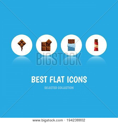 Flat Icon Bitter Set Of Bitter, Sweet, Delicious And Other Vector Objects. Also Includes Delicious, Confection, Bitter Elements.