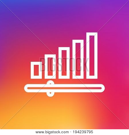 Isolated Volume Control Outline Symbol On Clean Background. Vector Audio Level  Element In Trendy Style.