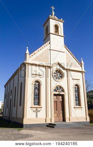 Catholic Church in Vale dos Vinhedos valley Bento Goncalves Rio Grande do Sul Brazil