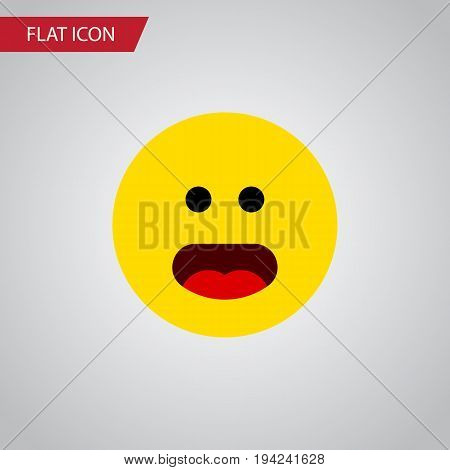 Isolated Confused Flat Icon. Wonder Vector Element Can Be Used For Wonder, Confused, Face Design Concept.
