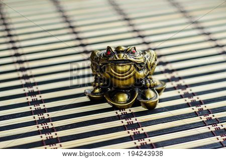 Chinese Toad On Bamboo Mat