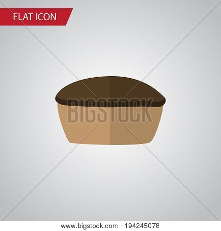 Isolated Pie Flat Icon. Tart Vector Element Can Be Used For Pie, Tart, Tasty Design Concept.
