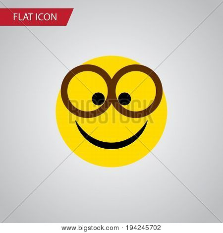 Isolated Eyeglasses Flat Icon. Pleasant Vector Element Can Be Used For Pleasant, Eyeglasses, Smile Design Concept.