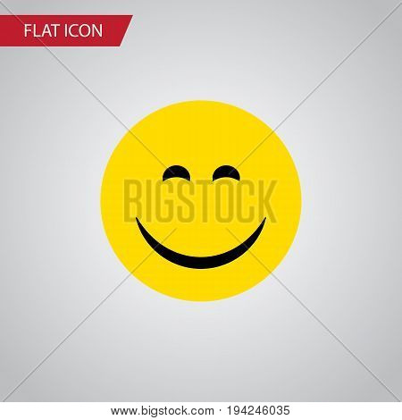 Isolated Joy Flat Icon. Smile Vector Element Can Be Used For Smile, Joy, Face Design Concept.