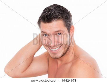 lächelnd männlich Schönheit und lachen
