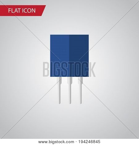 Isolated Recipient Flat Icon. Receptacle Vector Element Can Be Used For Recipient, Transistor, Receptacle Design Concept.