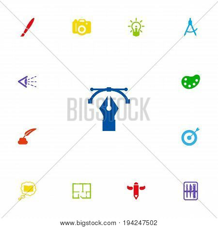 Set Of 13 Constructive Icons Set.Collection Of Arrow, Artist, Photo And Other Elements.
