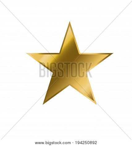 Gold Star icon vector. Yellow stars pictogram art. Star symbol illustration.
