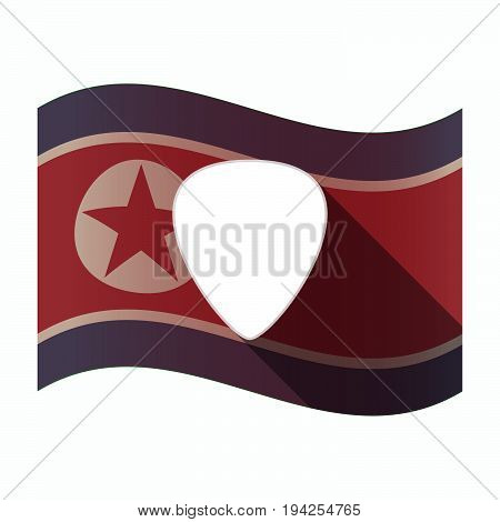 Long Shadow North Korea Flag With A Plectrum