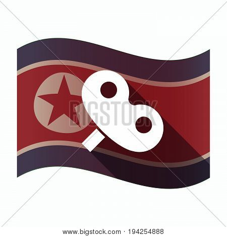 Long Shadow North Korea Flag With A Toy Crank