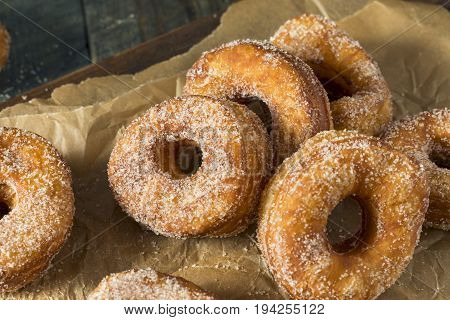 Homemade Sugary Cronut Donuts with Sugar and Butter poster