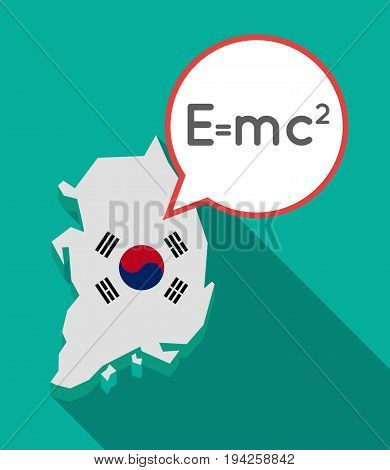 Long Shadow South Korea Map With The Theory Of Relativity Formula