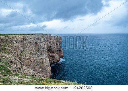 Cliffs By Saint Vincent Cape (portugal)