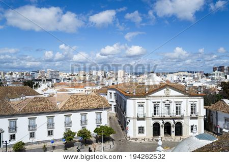 Faro Town Hall From The Top Of The Cathedral
