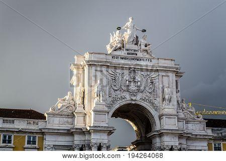 Arco Da Rua Augusta At Praca Do Comercio (lisbon, Portugal)