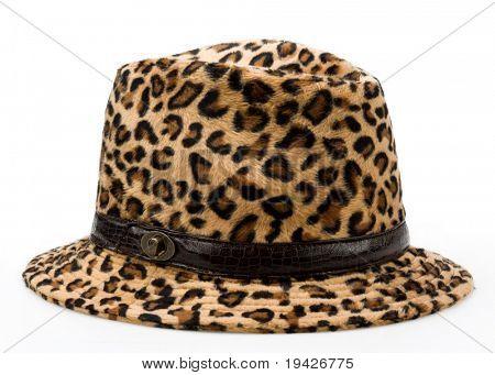leopard pattern woman's hat