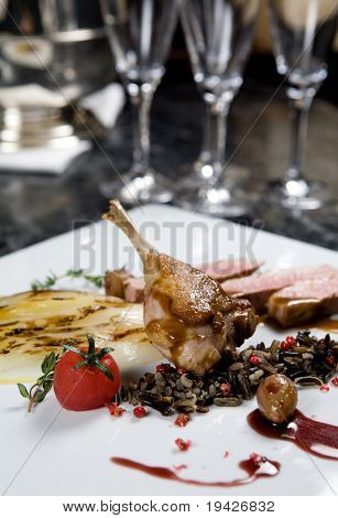 quail dish