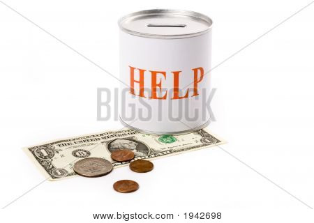 Dollar And Help Box