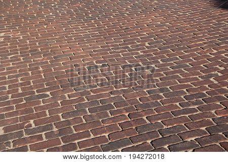 Brick paved road in Traverse City, Michigan