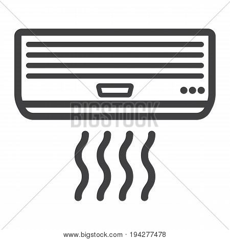 Air conditioner line icon, electric and appliance, vector graphics, a linear pattern on a white background, eps 10.