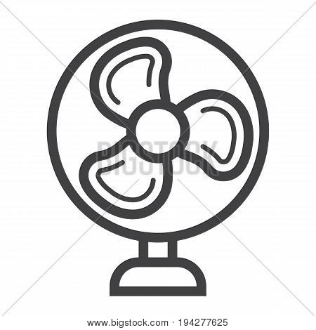 Table Fan line icon, household and appliance, vector graphics, a linear pattern on a white background, eps 10.