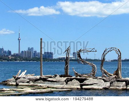 Canada Day on shore of the Lake Ontario in Toronto Canada July 3 2017