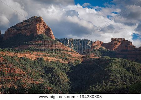 View from the red mountains of Sedona