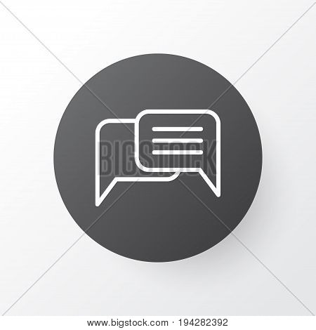 Messaging Icon Symbol. Premium Quality Isolated Chatting Element In Trendy Style.
