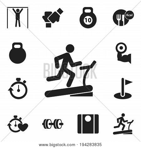 Set Of 12 Editable Lifestyle Icons. Includes Symbols Such As Weightiness, Balance, Stopwatch And More. Can Be Used For Web, Mobile, UI And Infographic Design.