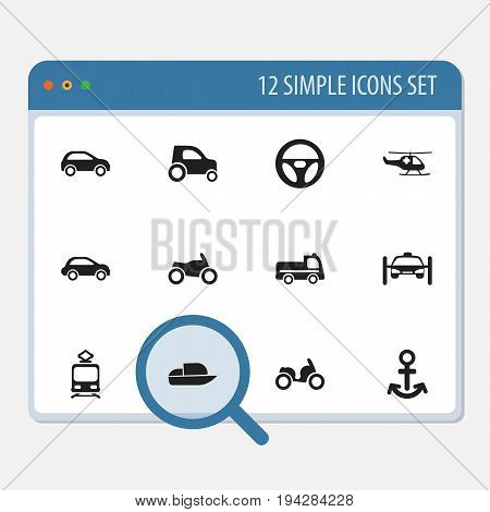 Set Of 12 Editable Shipment Icons. Includes Symbols Such As Washing Auto, Part Of Car, Bogie And More. Can Be Used For Web, Mobile, UI And Infographic Design.
