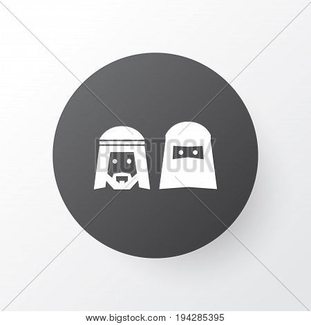 People Icon Symbol. Premium Quality Isolated Mussulmans  Element In Trendy Style.