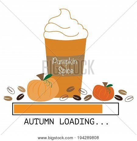 Seasonal Pumpkin Pie Spice Coffee Cup Loading