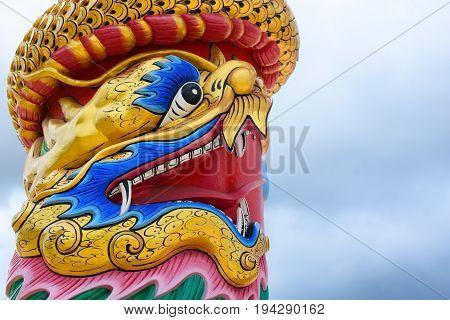 Chinese dragon symbolic twist the pillar, chinese new year