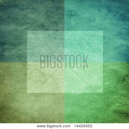 grungy watercolor-like graphic abstract background. green