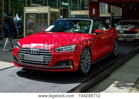 BERLIN - JUNE 17 2017: Compact executive car Audi A5 2.0 TFSI Quattro produced since 2009. Classic Days Berlin 2017.