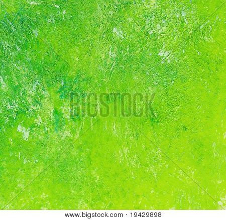 Green oil painting texture. high magnification