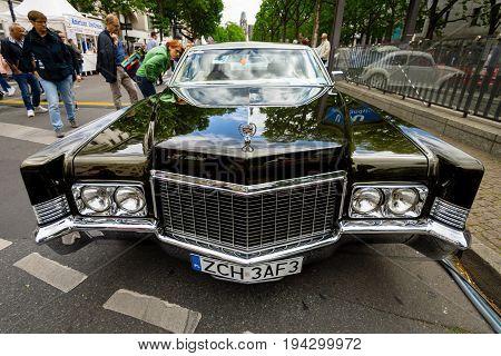 BERLIN - JUNE 17 2017: Full-size luxury car Cadillac Coupe de Ville 1970. Classic Days Berlin 2017.