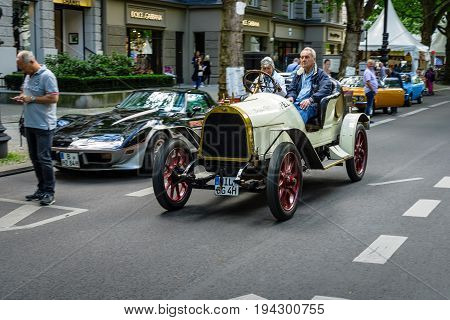 BERLIN - JUNE 17 2017: Vintage car Opel 5/12 PS also known as the Puppchen (Doll) 1911. Classic Days Berlin 2017.