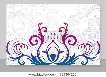 Cover copybook with floral pattern.