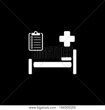 Hospital Care and Medical Services Icon. Flat Design. Isolated