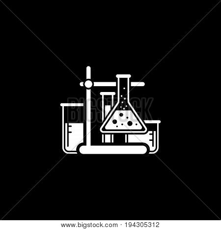 Laboratory Analysis and Medical Services Icon. Flat Design. Isolated