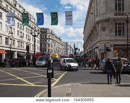 People In Regent Street In London