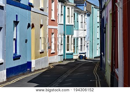 Appledore England 4th July 2017 - Irsha Street. Full of old and colourful fishmans cottages in the ancient coastal port of Appledore in North Devon Engand