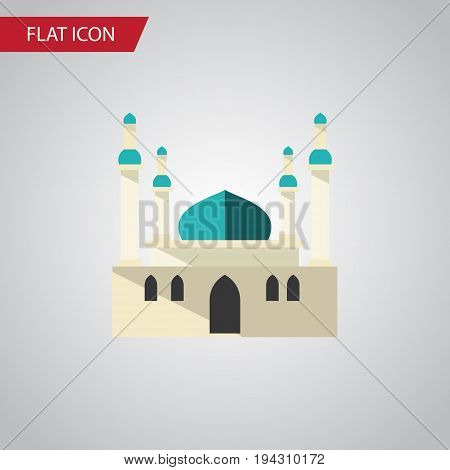 Isolated Mohammedanism Flat Icon. Architecture Vector Element Can Be Used For Mohammedanism, Mosque, Architecture Design Concept.