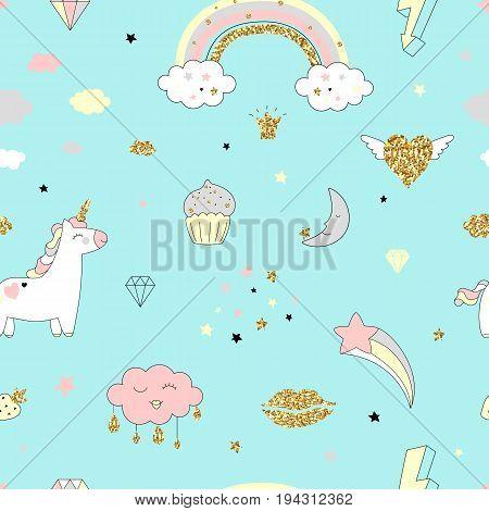 Unicorn Seamless Pattern-04.eps