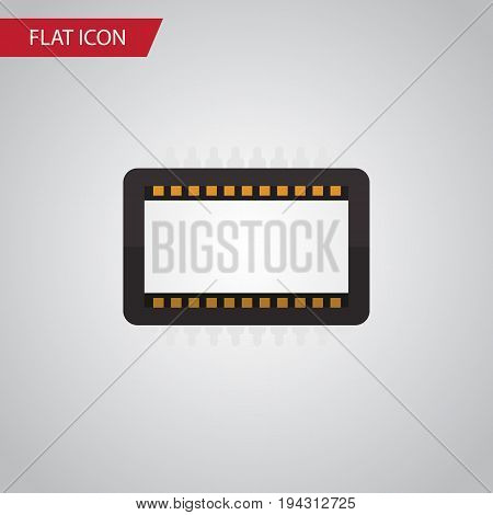 Isolated Unit Flat Icon. Mainframe Vector Element Can Be Used For Mainframe, Processor, Unit Design Concept.