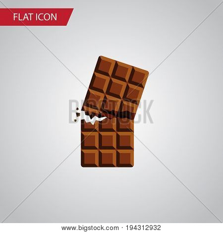 Isolated Dessert Flat Icon. Wrapper Vector Element Can Be Used For Wrapper, Dessert, Chocolate Design Concept.