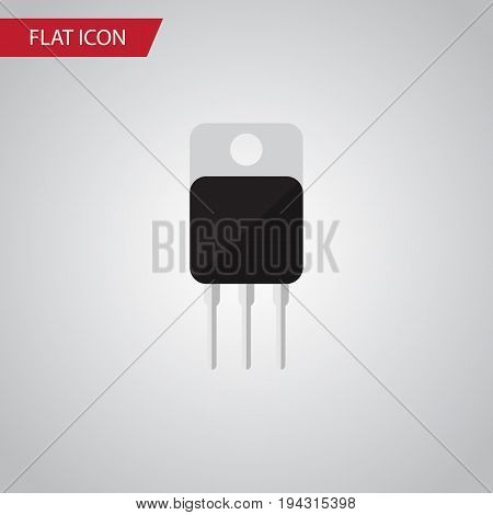 Isolated Transistor Flat Icon. Receiver Vector Element Can Be Used For Receiver, Transistor, Set Design Concept.